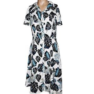 Naif Womens short sleeve Tropical Leaf Print   S
